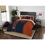7 Piece NFL Bears Comforter Full Set With Sheet, Football Themed Bedding Sports Patterned, Team Logo