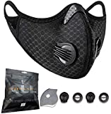 Shield'M - Sports And Outdoor Face Mask With Activated Carbon Filter (Black)
