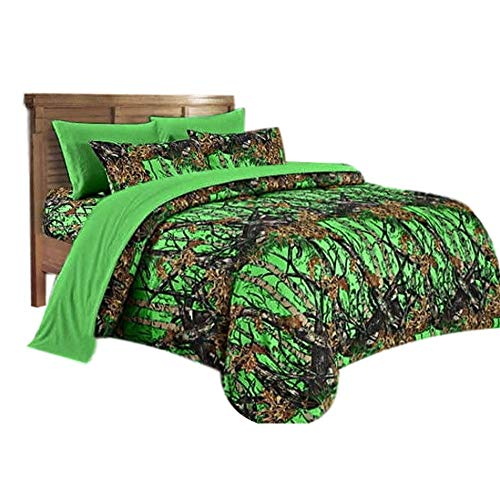 20 Lakes Super Soft Microfiber Camo Comforter Spread (Biohazard Green)