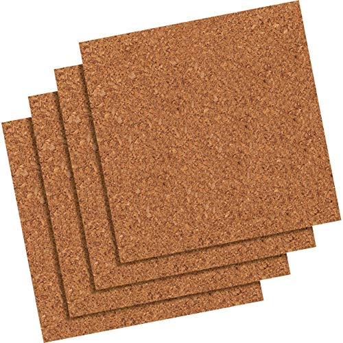 (Quartet 102Q Cork Panels, Self-stick, 12