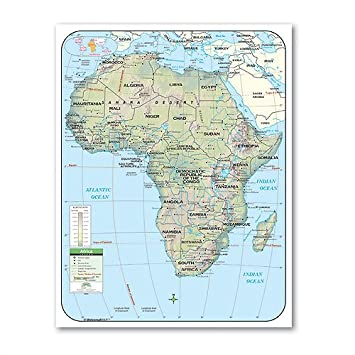 map of the continent of africa