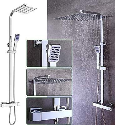 Cabeza de ducha termostática Termostático Batidora Set de Ducha ...
