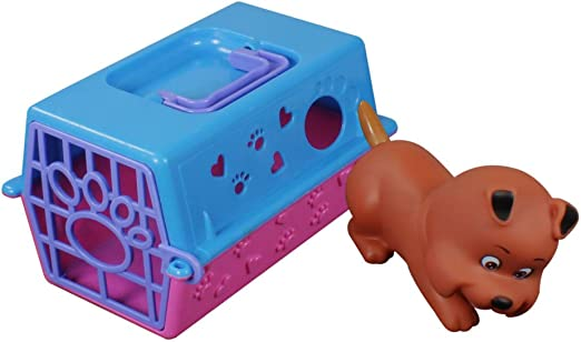 COM-FOUR® Caja de transporte para animales de juguete, por ejemplo, perro, gato, conejo / con animal (perro): Amazon.es: Jardín