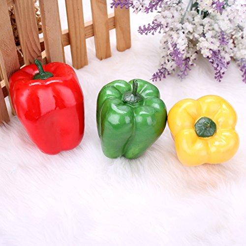 10pcs Simulation Foam Color Pepper Fake Vegetables Decoration Teaching Props