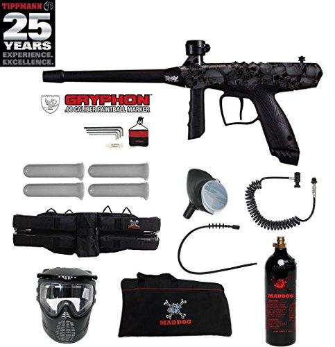(MAddog Tippmann Gryphon FX Specialist Paintball Gun Package - Skull)