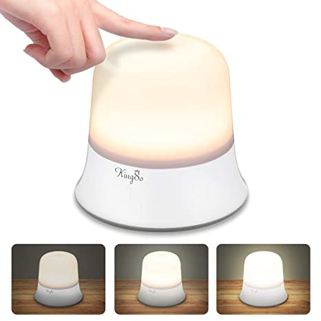 KINGSO Luz de Noche Bebé Lámpara de Cabecera Niño Control Táctil Estanco IP65 LED Luz de