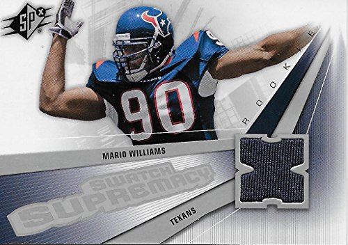 (Mario Williams Rookie Swatch Supremacy Collectible Jersey Football Card - 2007 Upper Deck SPX Football Card #SW-MW (Houston Texans) Free Shipping)