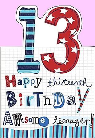 13 Geburtstag Karte Awesome Teenager Amazon De Burobedarf