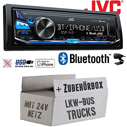 LKW Bus Truck 24V 24 Volt - JVC KD-X341BT - Bluetooth | MP3 | USB | Android | iPhone Autoradio - Einbauset JUST SOUND best choice for caraudio