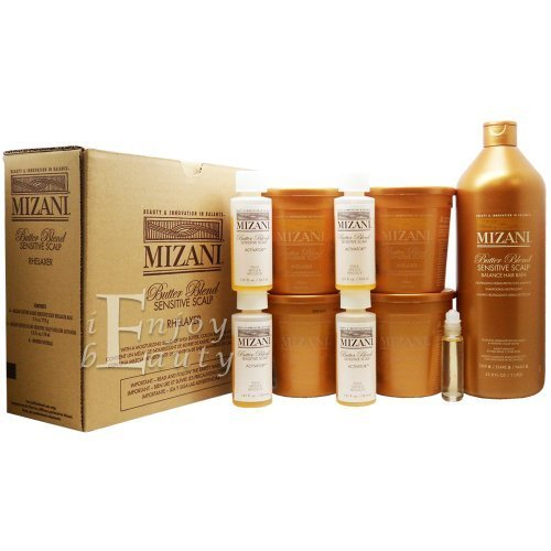 Good Hair Relaxer (Mizani Butter Blend Relaxer Kit and Sensitive Scalp Balance Hair Bath