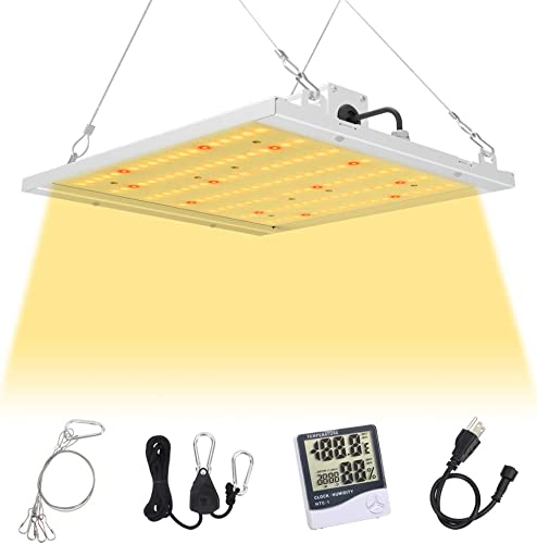 1500W LED Grow Light Full Spectrum, 4 4 ft Sunlike Plant Grow Lamp for Indoor Plant Greenhouse Flowering Growing Veg and Flower LED Growing Light with Daisy Chain 10w LEDs