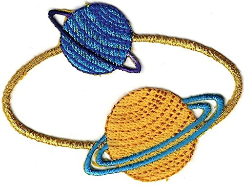 Neptune Uranus Ringed Planet Embroidery Patch