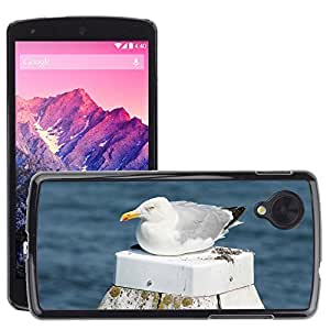 GoGoMobile Slim Protector Hard Shell Cover Case // M00123910 Seagull Beach Water Bird Coast Sea // LG Nexus 5