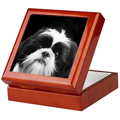 CafePress - Shih Tzu Dog - Keepsake Box, Finished Hardwood Jewelry Box, Velvet Lined Memento Box