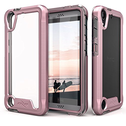 (HTC Desire 530 Case, Zizo [ION Series] with Free [HTC Desire 530 Screen Protector] Transparent Clear [Military Grade Drop Tested] HTC Desire 550/555)