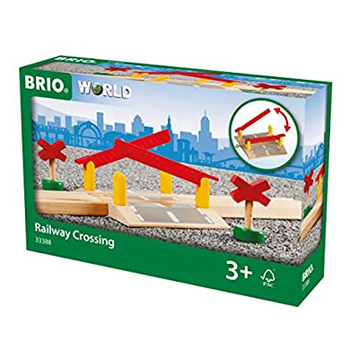 BRIO World - 33388 Railway Crossing | 4 Piece Toy Train Accessory for Kids Ages 3 and Up: Toys & Games