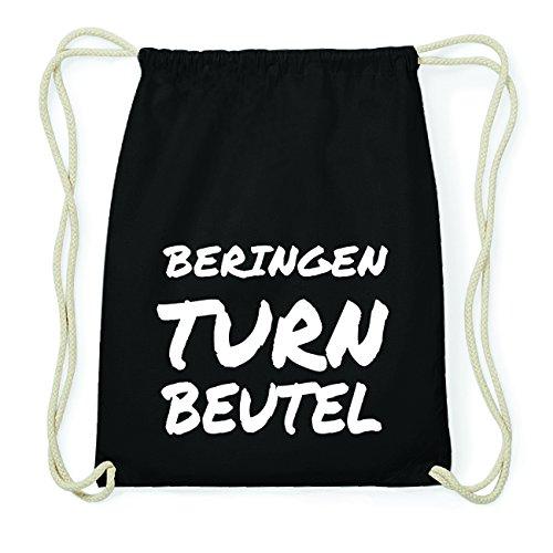 JOllify BERINGEN Hipster Turnbeutel Tasche Rucksack aus Baumwolle - Farbe: schwarz Design: Turnbeutel AP0vbT3g