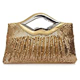 Fanspack Women's Clutch Bag Fashion Paillette Top Handle Evening Bag Party Prom Wedding Satchel Bag Purse