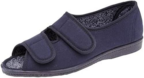 Womens Canvas Wide EE FIT Velcro Casual