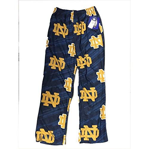 Notre Dame Fighting Irish Adult NCAA Grandstand Pajama Pants - Navy , Large