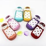 GuiXinWeiHeng 7pcsKids Sock, Baby Girl Socks Cotton Children Floor Socks Anti-Slip Baby Step Socks Shoes(color random)