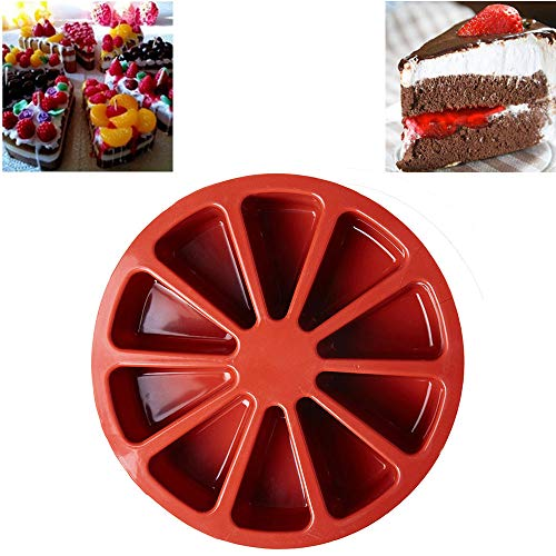 10 Triangle Silicone Portion Cake Mold Pizza Slice Cake Pan Baking Mold, Non-stick Sillicone Baking Mold Bread Bundt Pan Homemade Cake Decorating Tools