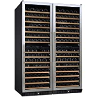 (DR) NFINITY PRO Double L 166-Bottles Wine Cellar, Dual-Zone Cooler w/ Steel Door (S1011)