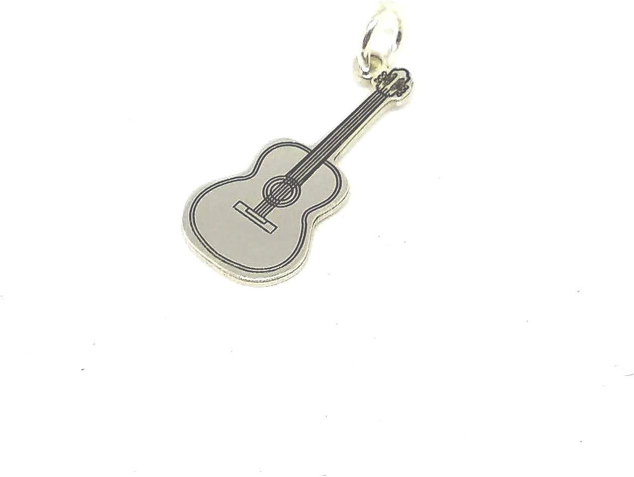 Personaliza plata-Colgante Instrumento Musical Guitarra española ...