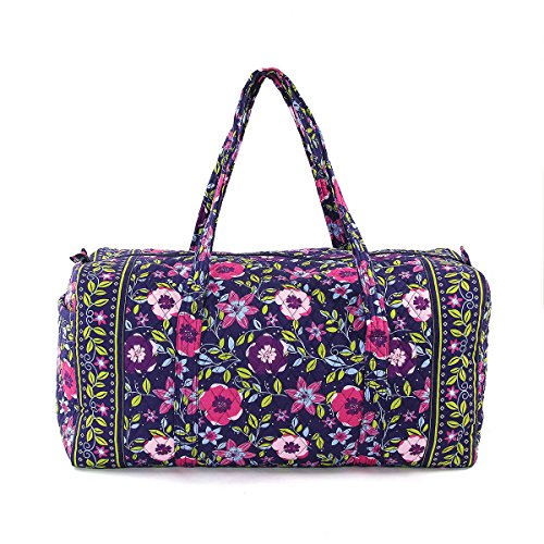 quilted cotton duffle bag - 8