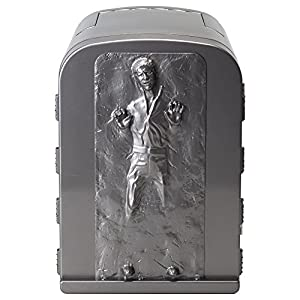 """Robe Factory NEW Star Wars Han Solo in Carbonite 3D 4 Liter Thermoelectric Mini Fridge Cooler 4L : If you tell it you love it, it will reply """"I know"""