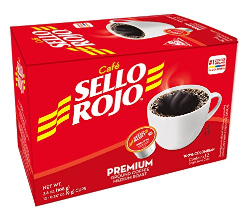 - Cafe Sello Rojo K Cups | Best selling coffee brand in Colombia | 100% Colombian medium roast ground arabica coffee | 12 Keurig compatible single serve coffee pods