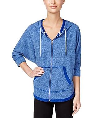 Calvin Klein Performance Women's Dolman-Sleeve Zip Hoodie