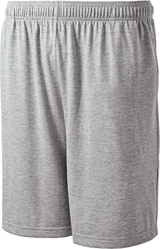Sport-Tek - Jersey Knit Shorts with Pockets. ST310 - Large - Heather Grey ()