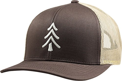 Lindo Trucker Hat - Pine Tree - by (Brown/tan) - Tan Trucker Hat