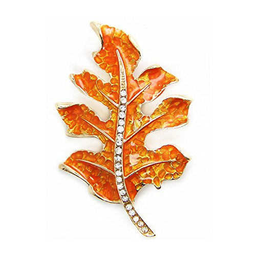 JoJo & Lin Maple Leaf Brooch Pin The Fall of The Leaf Thanks Giving Gift (Autumn Leaf)