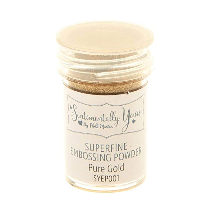 Pure Gold Superfine Embossing Powder Sentimentally Yours