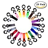HIG Stroller Hook - 20 Pack of Multi Purpose Hooks - Hanger for Baby Diaper Bags, Groceries, Clothing, Purse