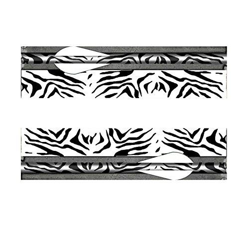14個/ロットアーチェリーのシャフトのための黒い白いヒョウの矢の折り返しフレッチ - アーチェリーの弓の狩猟の商品画像