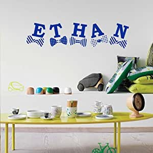 Wall Decal Decor Decals Sticker Art Vnyl Personalized Name Monogram Lettering Sign Nursery Kids Ethan Bedroom Living Room (M1210) by DecorWallDecals
