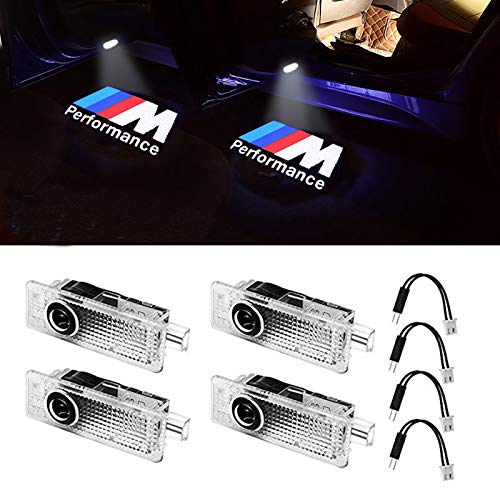 Car Door LED Logo Light Projector Ghost Shadow welcome Lights For BMW M 3 5 6 7 Z GT X Mini Series Symbol Emblem Courtesy Step Lights Kit Replacement(4-pack) (Best Bmw M Series)