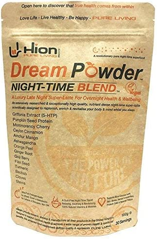 Hion Dream Powder 30 Servings The World s Premium Night-time Recovery Superfood Relax While Your Mind and Body are replenished for Tomorrow