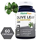 Olive Leaf Extract 750 mg 50% Oleuropein (Non-GMO & Gluten Free) - Vegetarian - Super Strength - Immune Support, Cardiovascular Health & Antioxidant Supplement - No Oil - 60 Capsules Larger Image