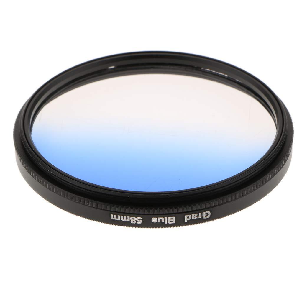 Sony Etc Pentax B Baosity Filtro De Lente De Color Graduado C/írculo para Sony Canon Olympus 52mm Rojo