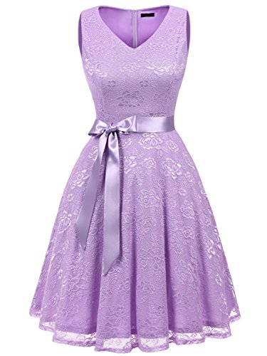 lavender and lace bridesmaid dresses - 7