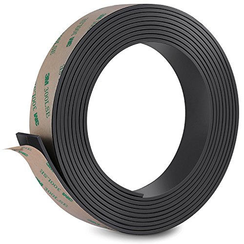 Firares Anisotropic Strong Magnet Magnetic Strip Tape with Prime Sticky Adhesive - Ideal 1 Inch x 10 Feet Magnetic Roll for Craft and DIY Projects