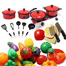 13 Pcs of Red Tableware Baby House Toys Puzzle Simulation Kitchenware Toys Set