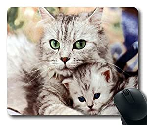 """Animals cats kittens Custom Rectangle Mouse Pad Oblong Gaming Mousepad in 220mm*180mm*3mm (9""""*7"""") -912042 by ruishername"""