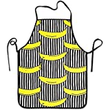 Adjustable Kitchen Chef Apron-Banana Commercial Men & Women Bib Apron for Cooking, Baking, Crafting, Gardening, BBQ