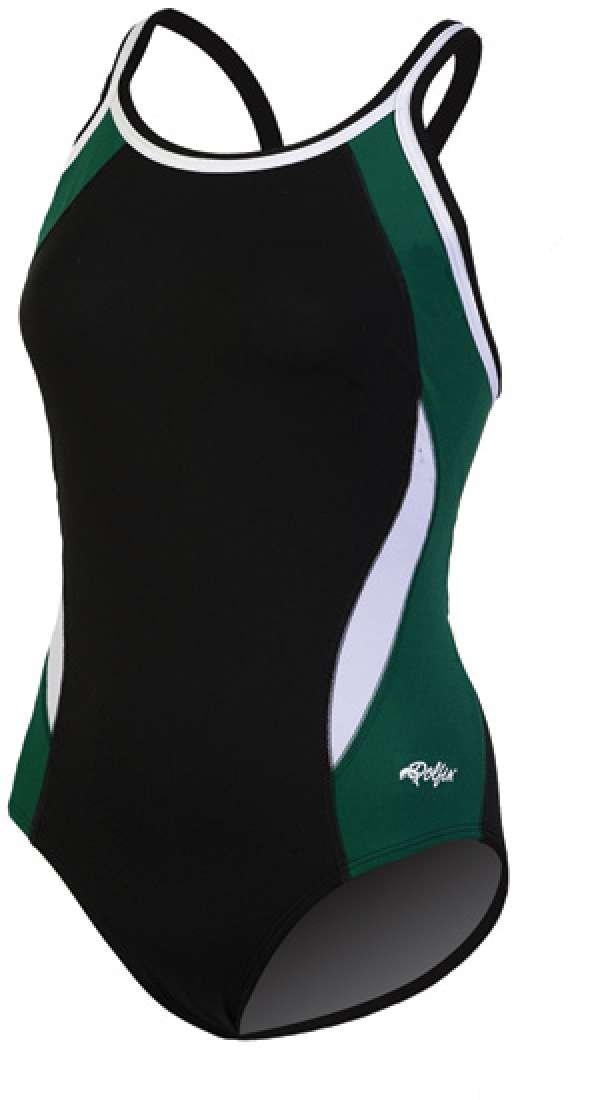 Black//Forest Dolfin Swimwear Color Block DBX Back 32 9974C-BLK-FOREST-32