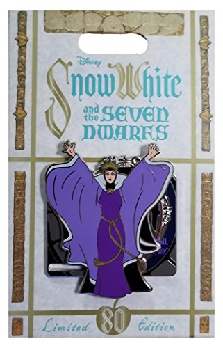 WDW Trading Pin - Snow White and the Seven Dwarfs 80th Anniversary - Evil Queen and Magic Mirror - Dwarfs Pin